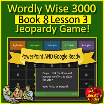 Wordly Wise 3000 Book 8 Lesson 3 Vocabulary Review Game