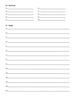 Wordly Wise 3000, Book 8 - Lesson 8 Answer Sheet