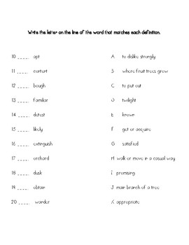 Wordly wise book 9 lesson 17 answer key