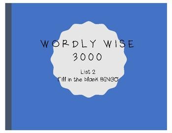 Wordly Wise Bingo