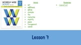 Wordly Wise Book 3 Lesson 7 Slideshow