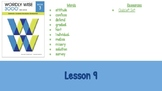Wordly Wise Book 3 Lesson 9 Slideshow