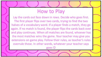 Wordly Wise Book 4 Lesson 1 Vocab Concentration Game