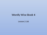 Wordly Wise Book 4 Lesson 2