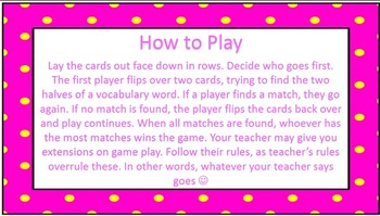 Wordly Wise Book 4 Lesson 2 Vocab Concentration Game