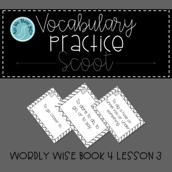 Wordly Wise Book 4 Lesson 3 Scoot Review Game
