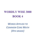 Wordly Wise, Book 4 Lesson 8 Applied to Mathematics