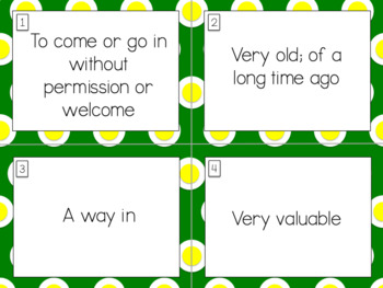 Wordly Wise Book 4 Lesson 8 Vocabulary Scoot Review Game