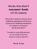Wordly Wise Book 5 Assessment Bundle