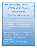 Wordly Wise Book 5 Authentic Assessments - All 20 Lessons