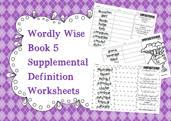 Wordly Wise Book 5 Definition Supplements