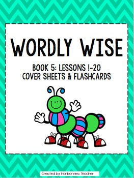 Wordly Wise Book 5: Editable Cover Sheets and Flashcards