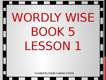 Wordly Wise Book 5 Lesson 1