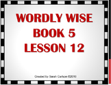 Wordly Wise Book 5 Lesson 12