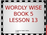 Wordly Wise Book 5 Lesson 13