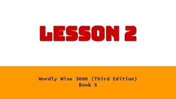 Wordly Wise Book 5 Lesson 2 Google Slides Presentation