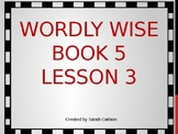 Wordly Wise Book 5 Lesson 3