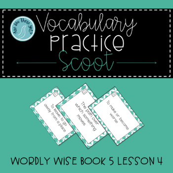 Wordly Wise Book 5 Lesson 4 Scoot Game Review