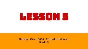 Wordly Wise Book 5 Lesson 5 Google Slides Presentation
