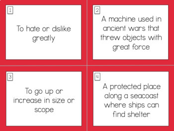 Wordly Wise Book 5 Lesson 6 Scoot Review Game
