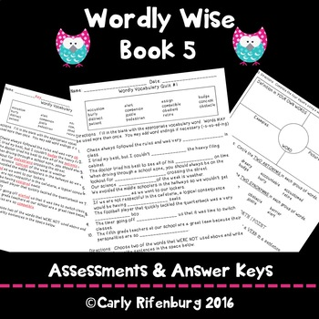 Wordly Wise Book 5 Quizzes Tests Wordly Wise Assessments