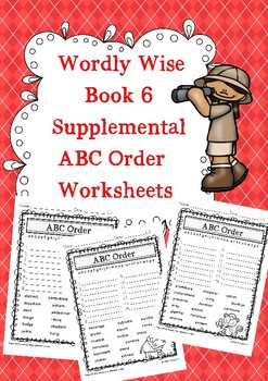 Wordly Wise Book 6 ABC Order Supplements