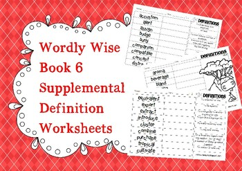 Wordly Wise Book 6 Definition Supplements