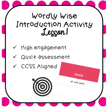 wordly wise book 7 lesson 1 introduction activity by clarke s corner