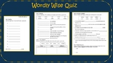 Wordly Wise Book/Level 3 Lesson 3 QUIZ