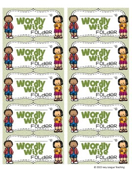Wordly Wise Folder Labels