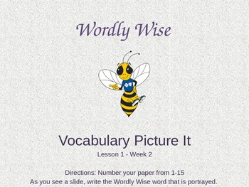 Wordly Wise Grade 5: Picture-It Powerpoint Adventure