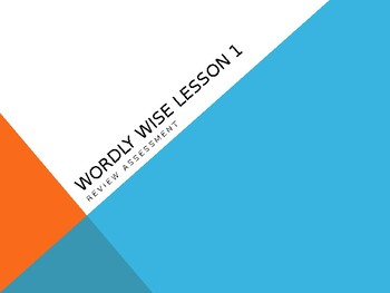 Wordly Wise Unit 1 Third Grade Review