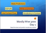 Wordly Wise Vocabulary 3000 Introduction Lesson
