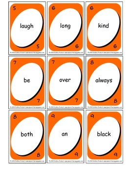 Wordo Sight Word Card Game