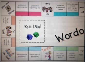 Wordopoly-Word Work Game