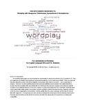 Wordplay Package: Fun with Anagrams, Palindromes, Spooneri