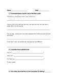 Wordplay Sheet