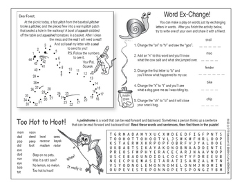 Wordplay Two-Page Activity Set