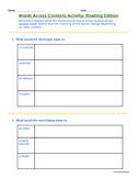 Words Across Contexts - Vocabulary Activity for Tier 2 Rea