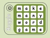 Words Center Activity - 28 Boggle Game Task Cards