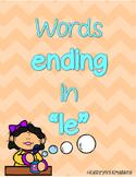 Words Ending In Le