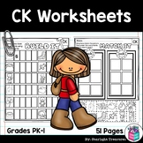 Words Ending in CK Worksheets and Activities for Early Rea