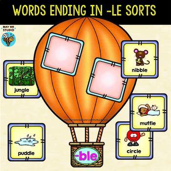 Words Ending in -LE Sorts