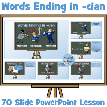 Words Ending in 'cian' - 32 Slide PowerPoint Lesson