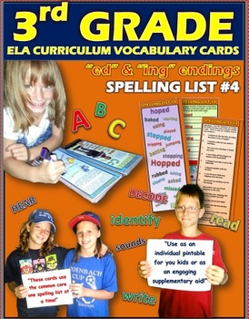 Words Ending in -ing and -ed: 3rd Grade Spelling List No.4