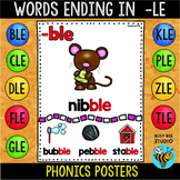Words Ending in -le Posters