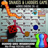 Words Ending in -le Snakes and Ladders Game