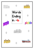 Words Ending in -le Worksheet