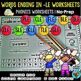 Words Ending in -le Worksheets