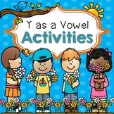"""""""y"""" as a Vowel-Word Sorting Activities"""